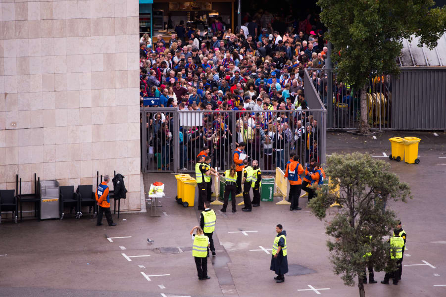 FC Barcelona fans locked out