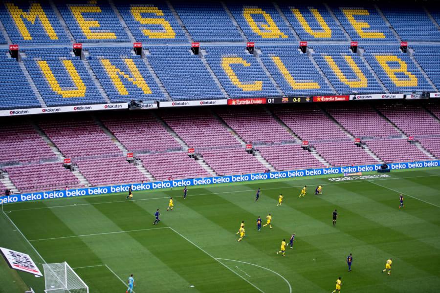 barcelona las palmas empty stadium