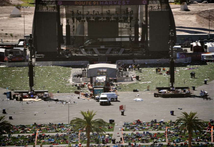 64 las vegas shooting debris at scene