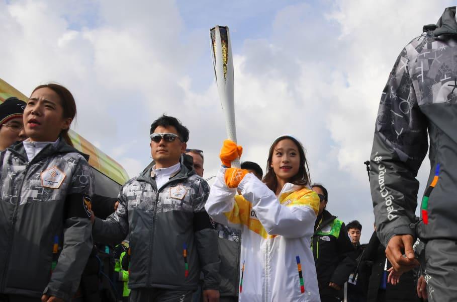 you young torchbearer winter olympics south korea
