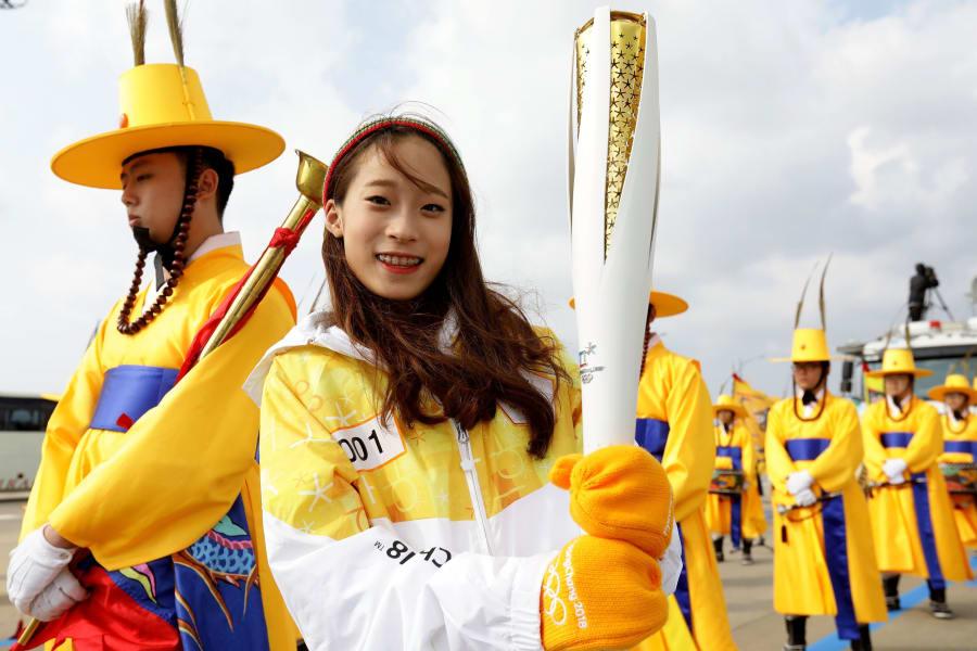 First torch bearer South Korean figure skater You Young pyeongchang 2018
