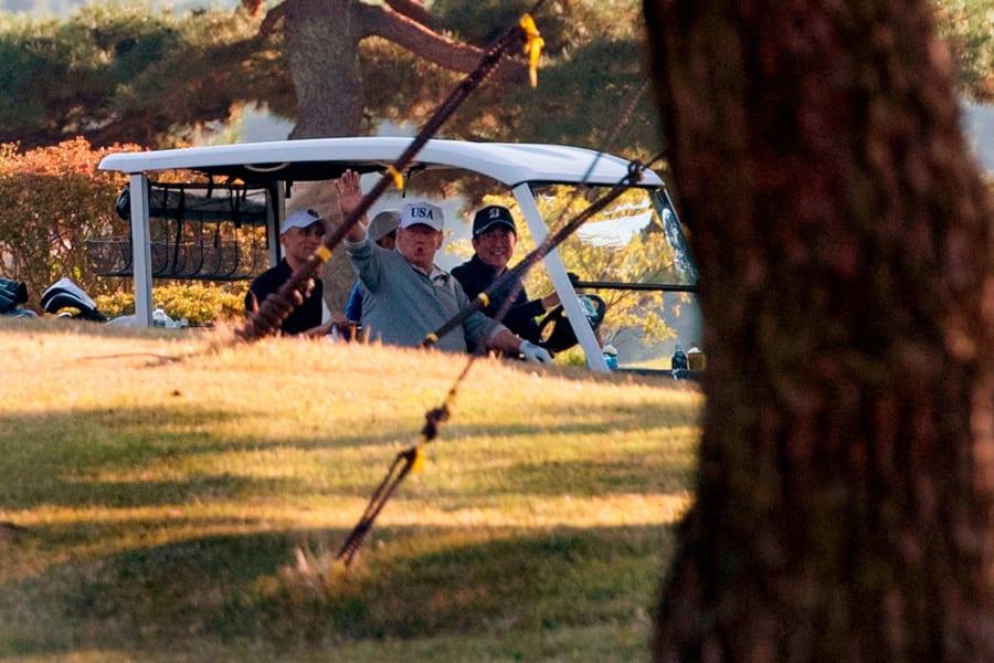 trump shinzo abe golf Kasumigaseki Country Club Golf Course