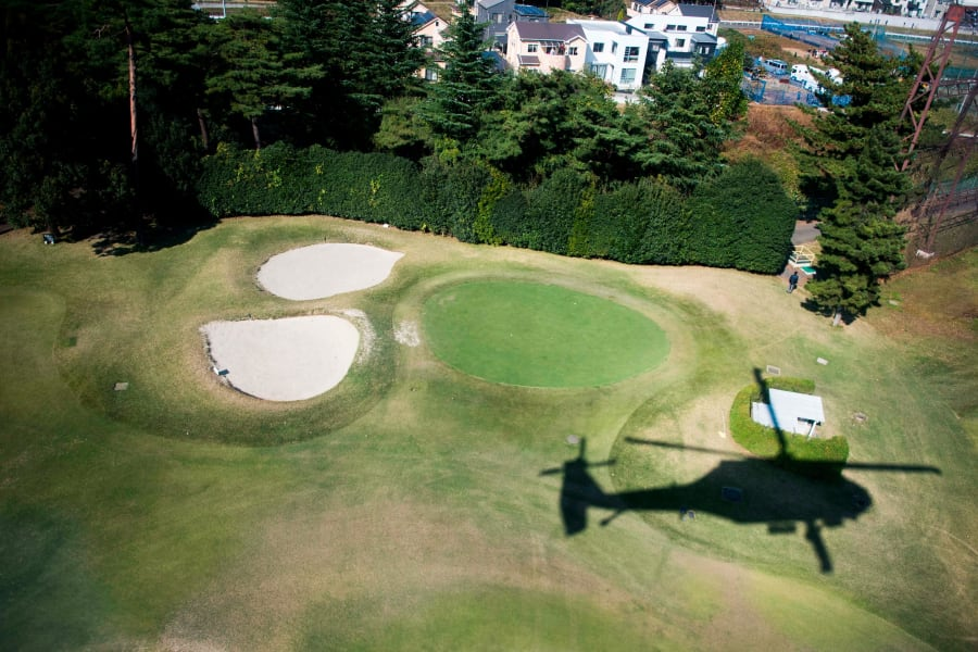 Black Hawk helicopter White House Press Corps trump abe Kasumigaseki Country Club Golf Course