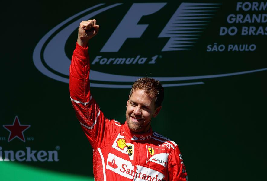 f1 brazil podium vettel