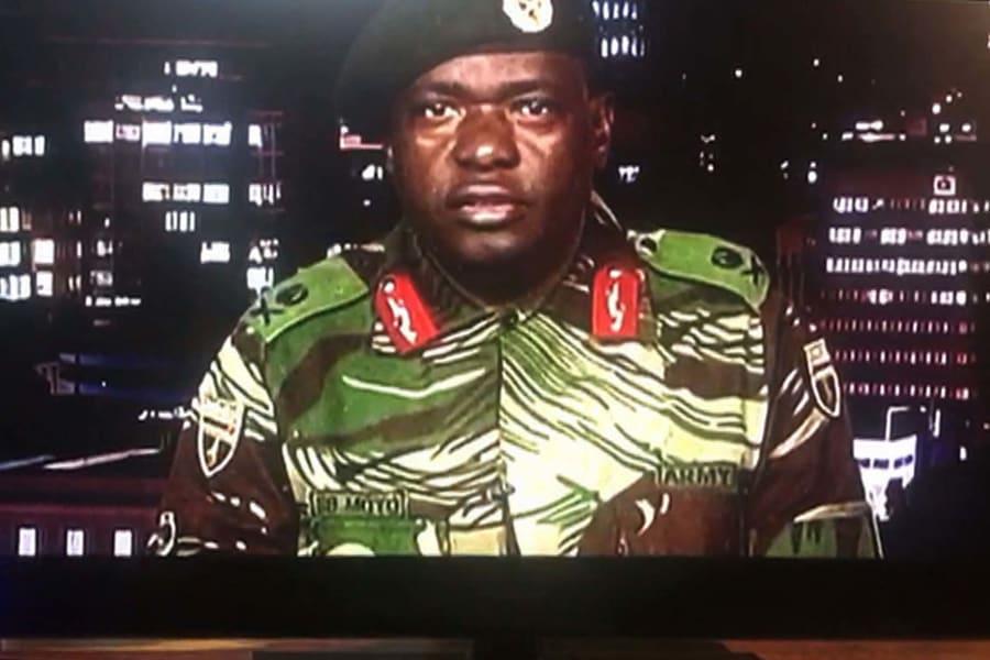 Zimbabwe military TV address