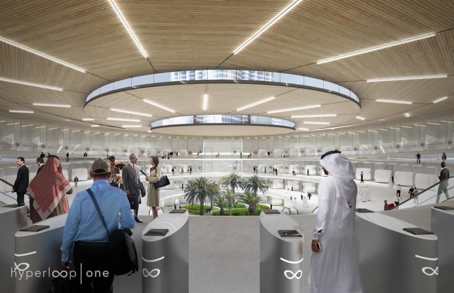 hyperloop one dubai station concept