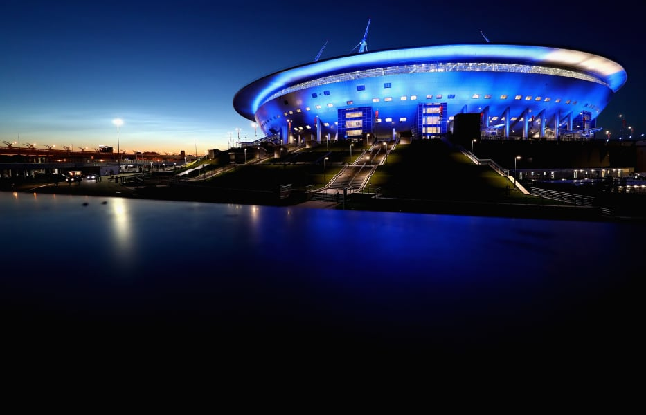 St. Petersburg Stadium russia 2018 world cup exterior