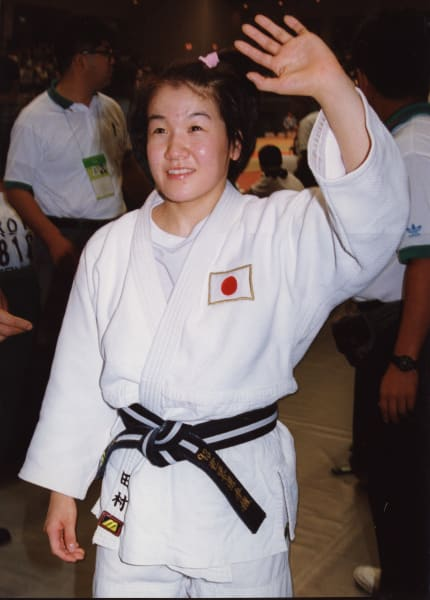 ryoko tani celebrates winning Fukuoka International 5 Years in a row judo
