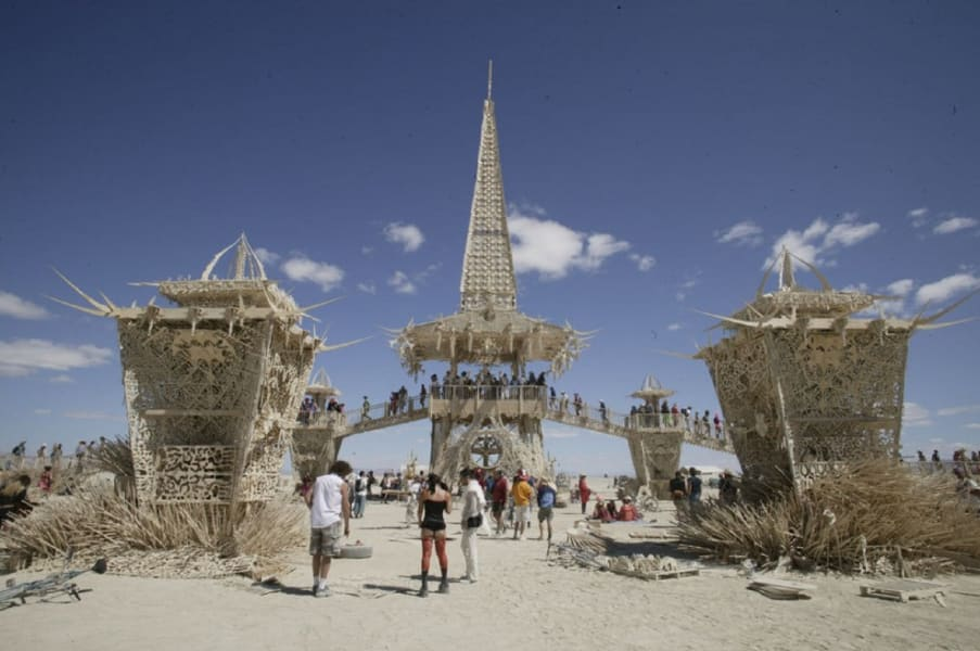 Burning Man temple of stars