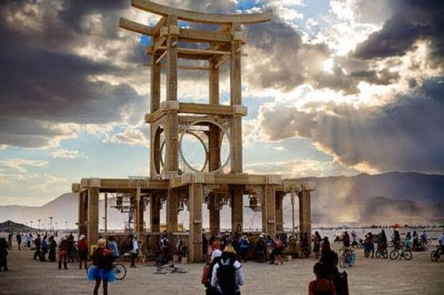 Burning Man temple of forgiveness