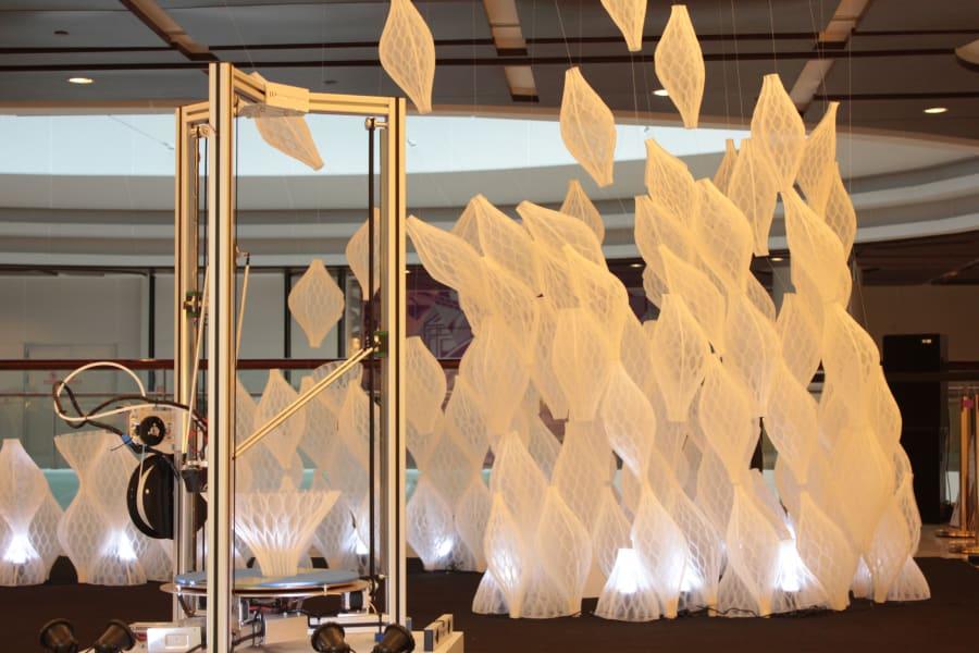 Mamou-Mani Shanghai 3D printing pop up