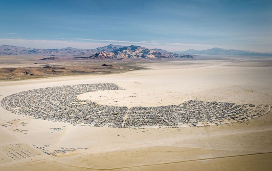 Burning Man aerial photo
