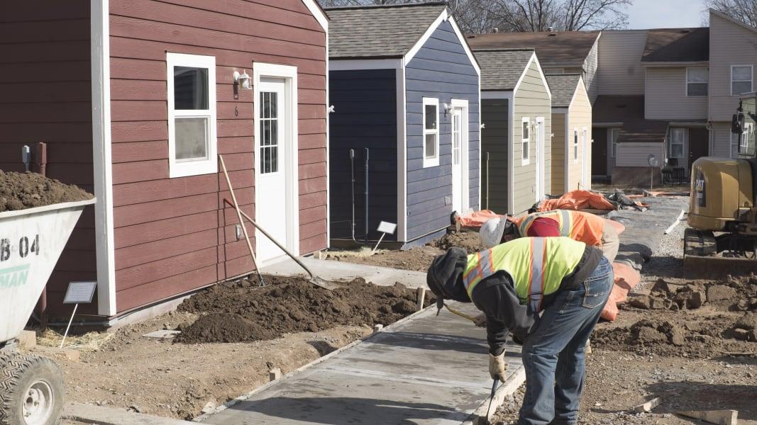 tiny houses sidewalk construction