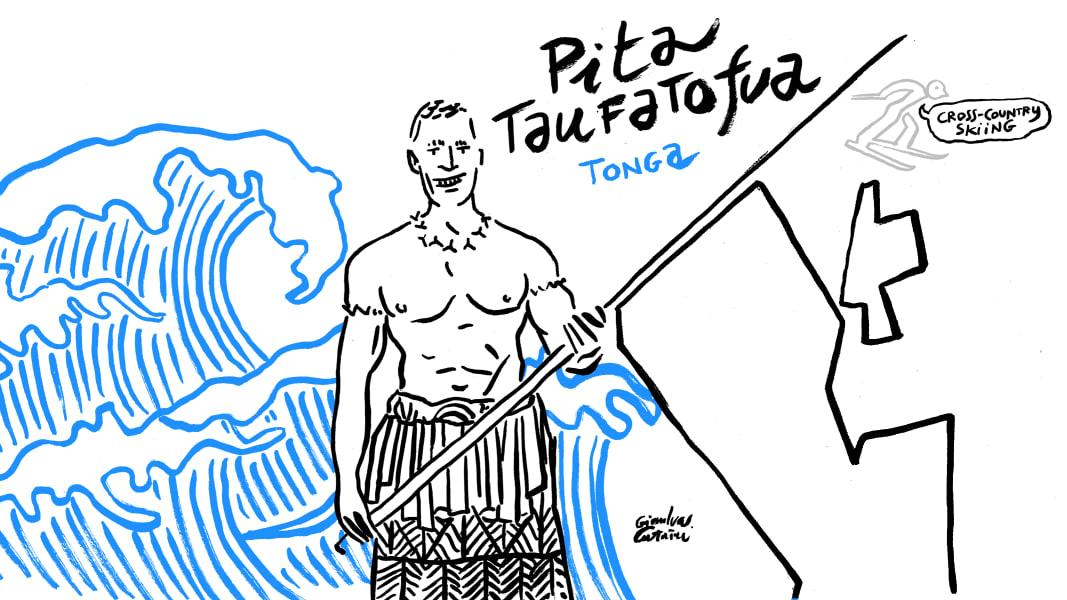Pita Taufatofua sketch