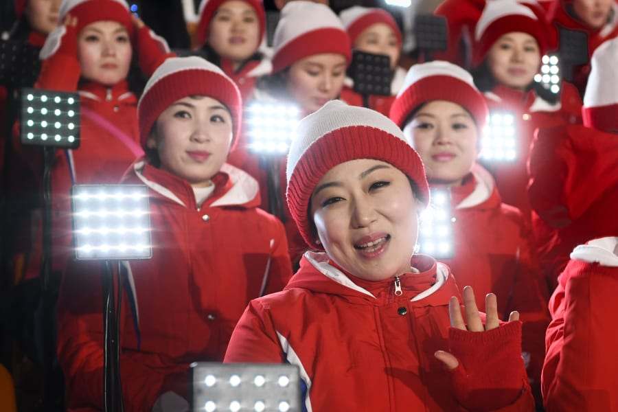 north korean cheerleaders