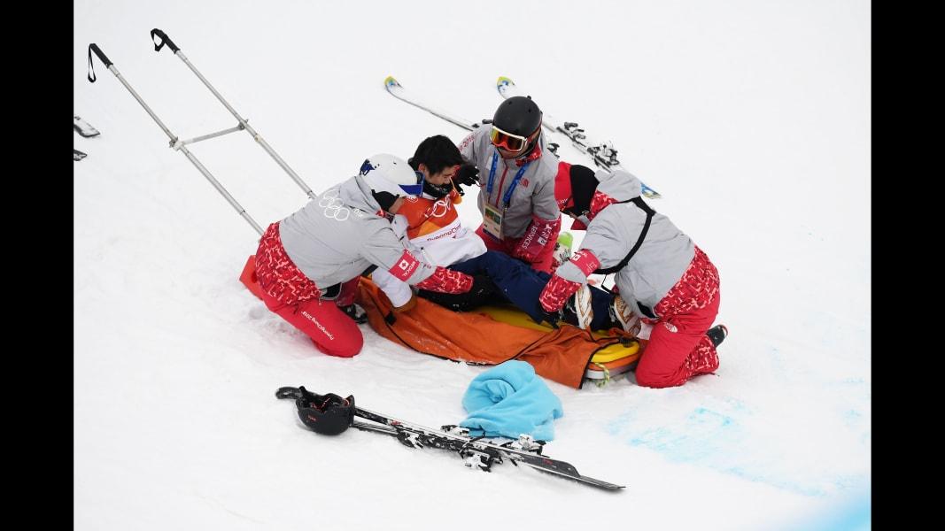09 winter olympics 0214 halfpipe fall Yuto Totsuka