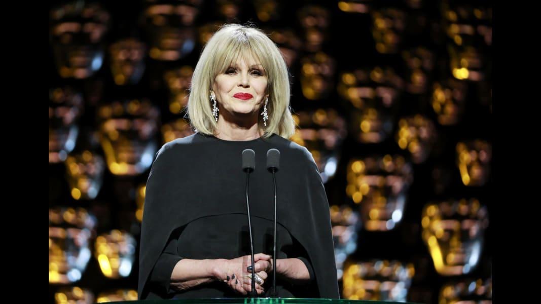 17 BAFTAS 2018 Joanna Lumley RESTRICTED
