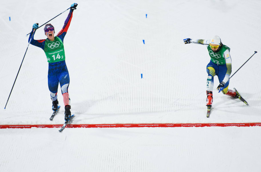 Jessica Diggins cross country skiing