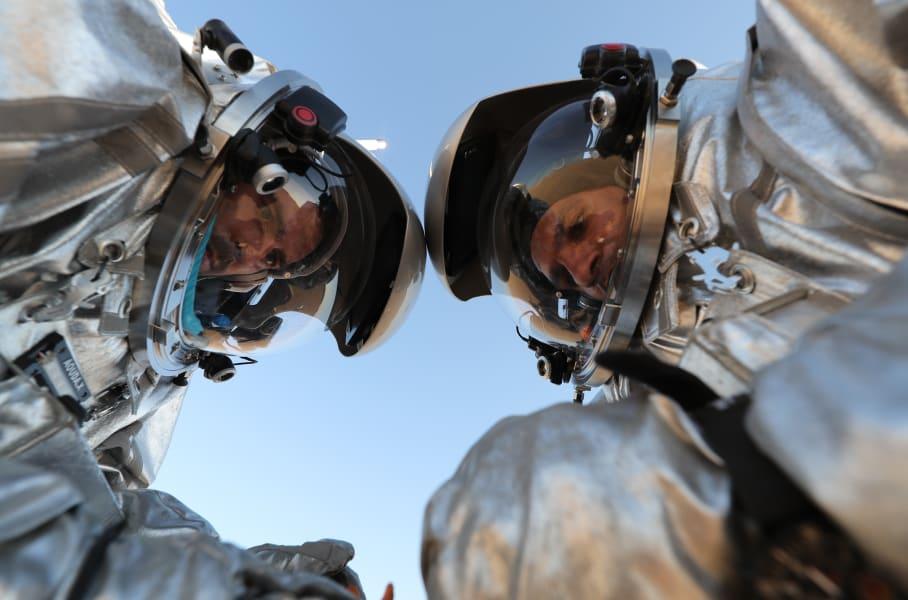 Oman Mars space helmets