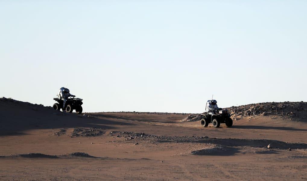Oman Mars sand dunes