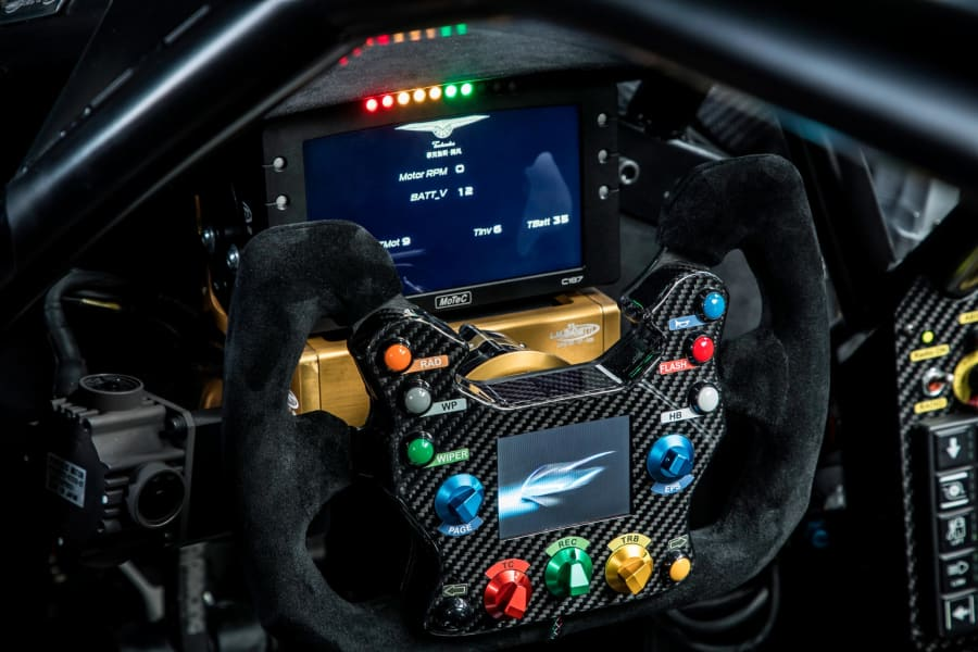 Techrules Racing electric car steering wheel