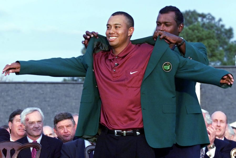 Tiger Woods Msters Augusta green jacket 2000
