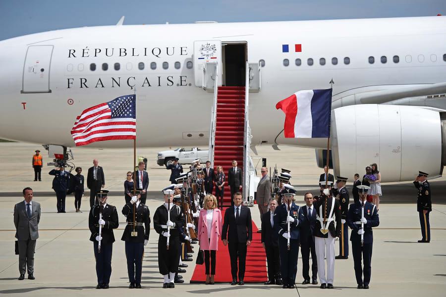 02 Macron Trump visit gallery