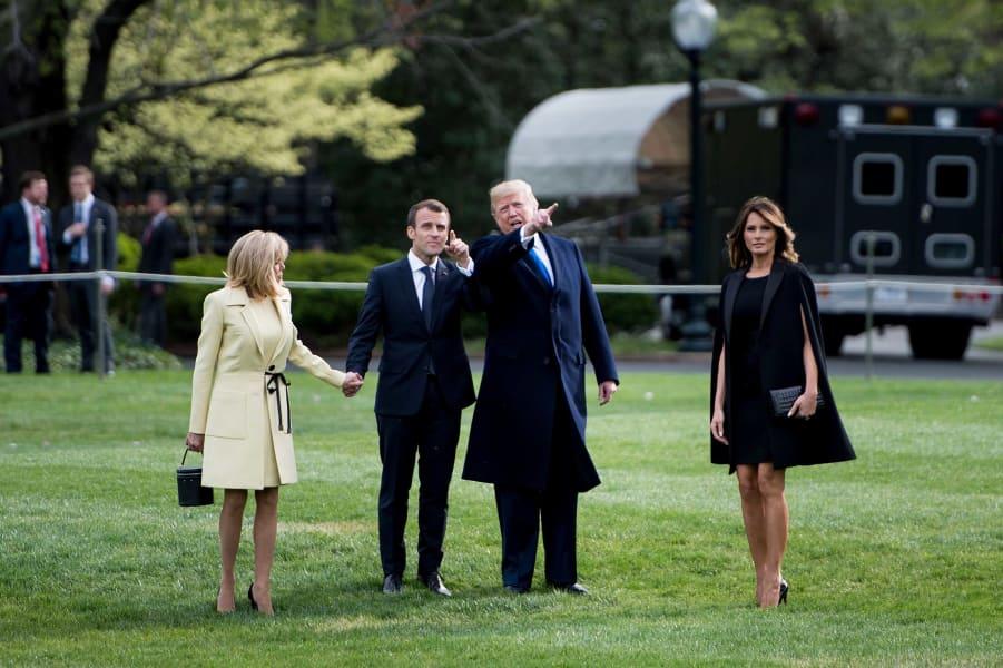 04 Macron Trump visit gallery