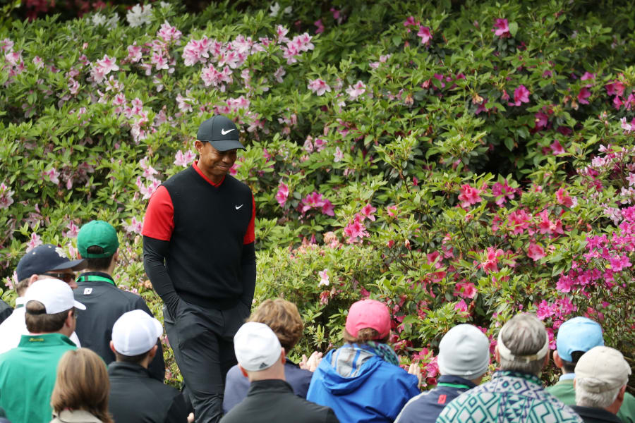 Tiger Woods Masters Augusta best photos sixth