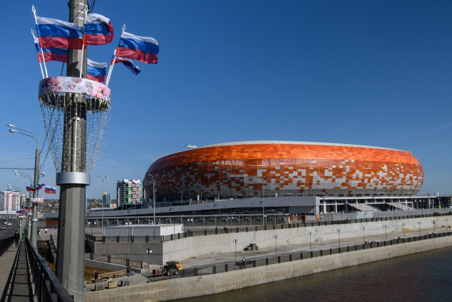 Mordovia Arena in Saransk russia 2018 world cup