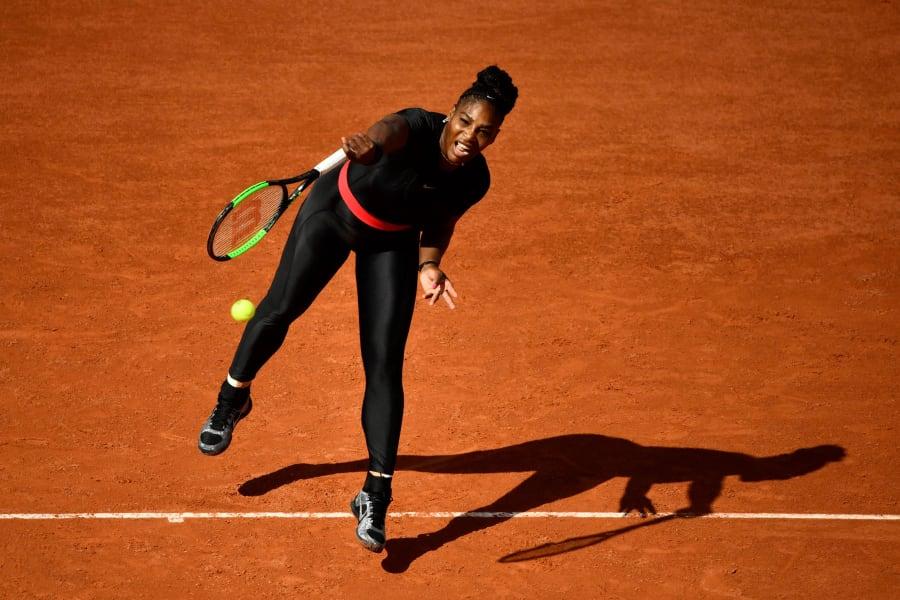 Serena Williams catsuit French Open Roland Garros Paris