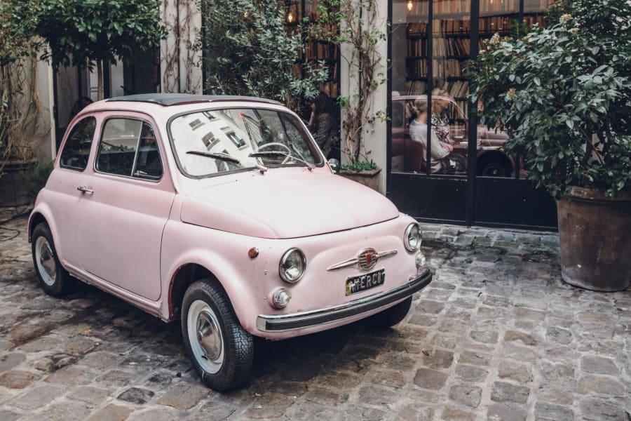 Classic E Cars -- Old Fiat 500