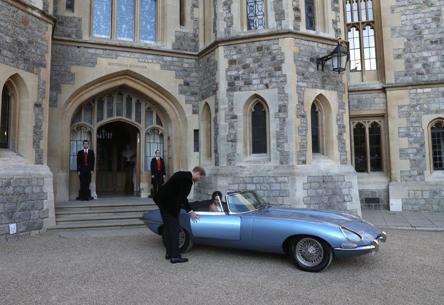 Classic E Cars -- harry meghan jaguar e type old 2