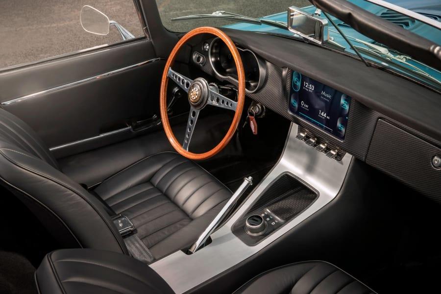 Classic E Cars -- jaguar e type electic interior