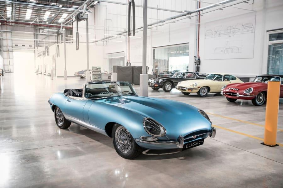 Classic E Cars -- jaguar e type electic