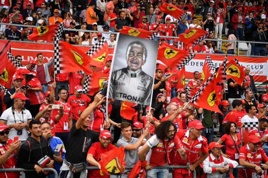 Ferrari fans Tifosi Lewis Hamilton SPT