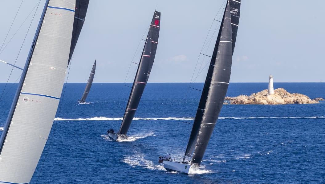 Maxi Yacht Rolex Cup Sardinia rocks Maddalena archipelago