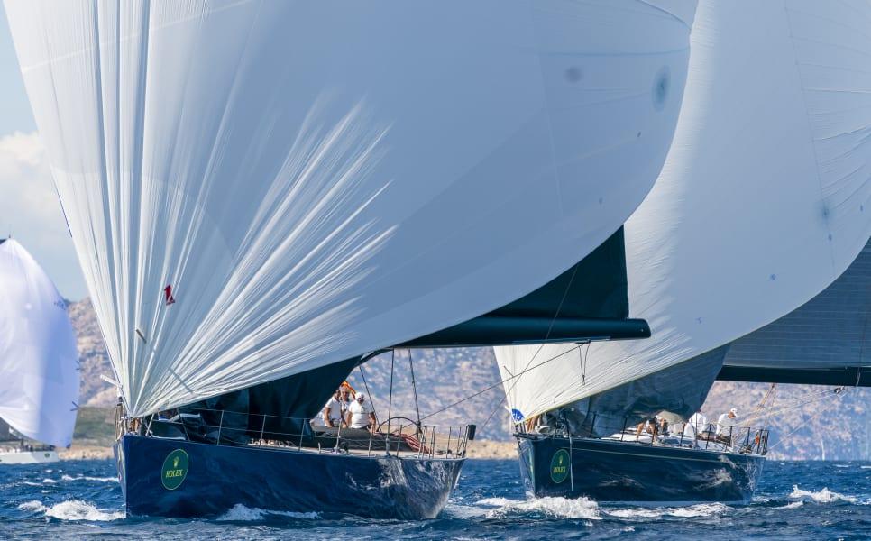 Maxi Yacht Rolex Cup Sardinia spinnakers
