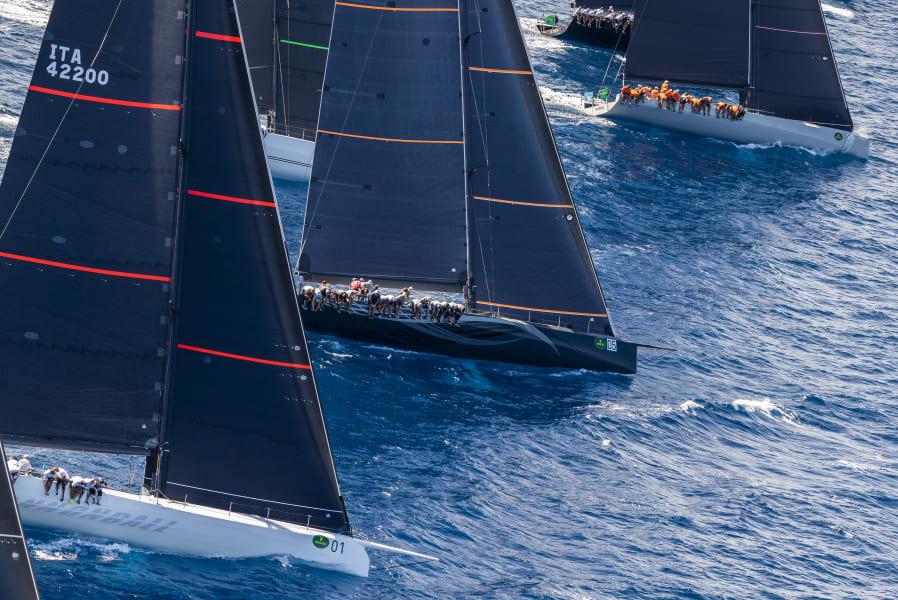 Maxi Yacht Rolex Cup Sardinia fleet
