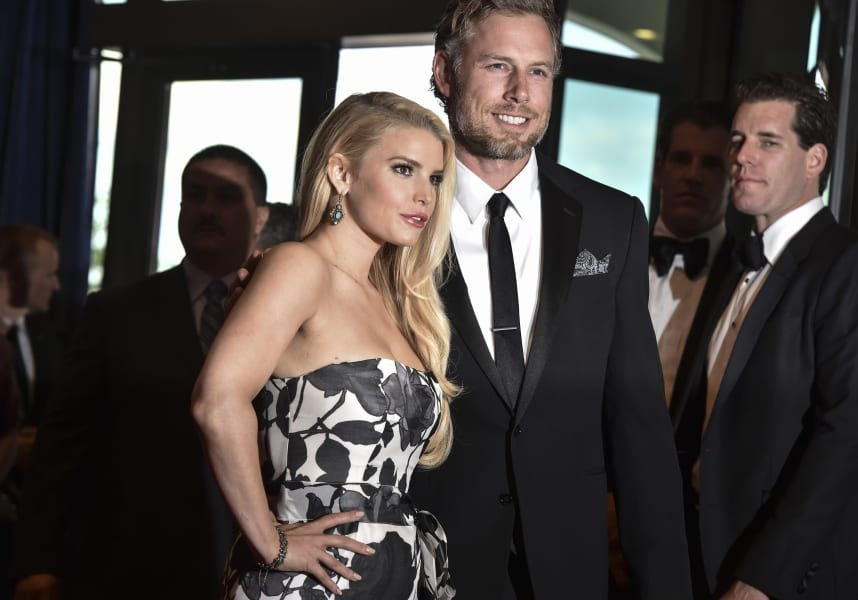 Jessica Simpson Eric Johnson WHCA 2014