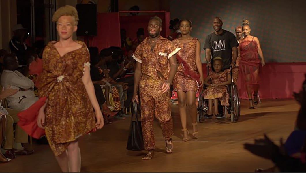 Uganda hot pink catwalk show 04