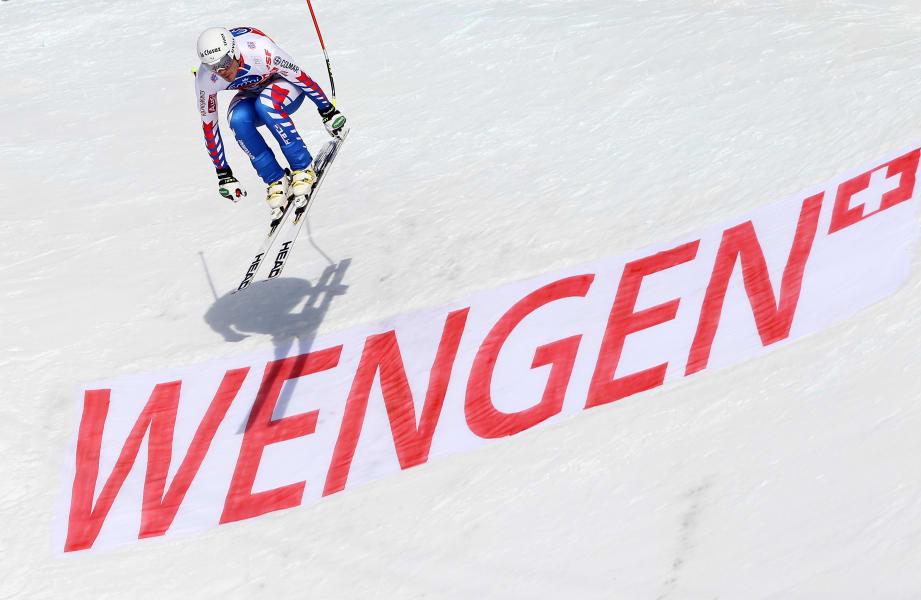 Wengen downhill skiing World cup Johan Clarey