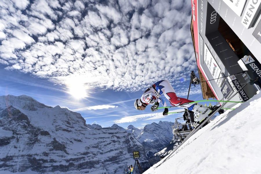 Johan Clarey skiing Wengen