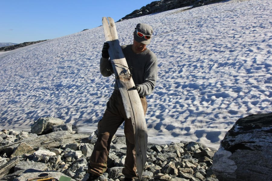 glacier artifacts ski