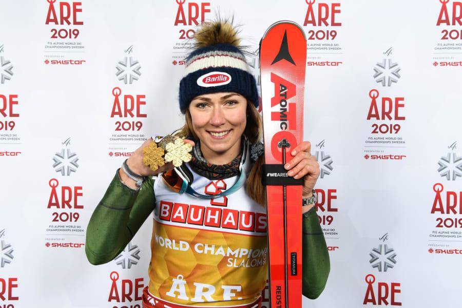 Mikaela Shiffrin slalom gold FIS World Championships Sweden
