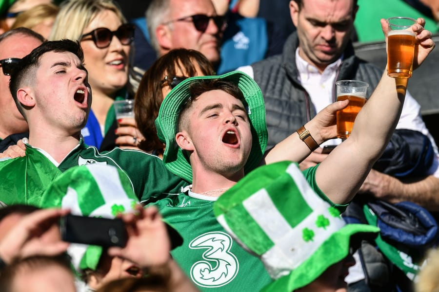 Six Nations Ireland fans Italy