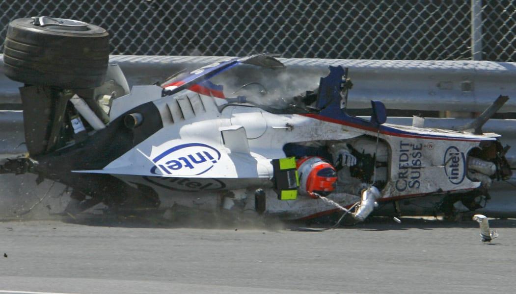 robert kubica canada crash