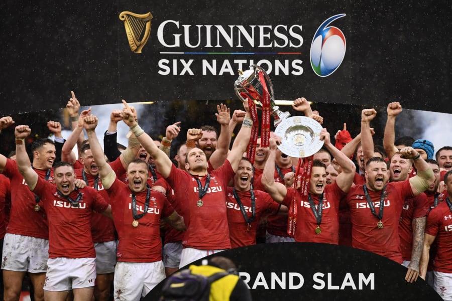 Wales Six Nations celebrations Cardiff