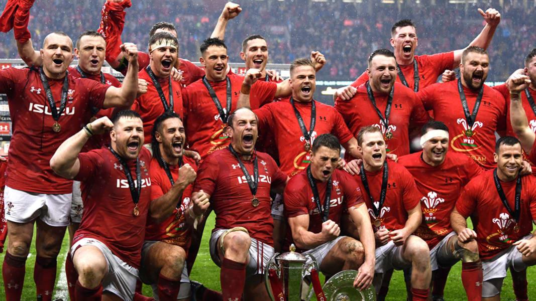 Wales celebrations new Six Nations