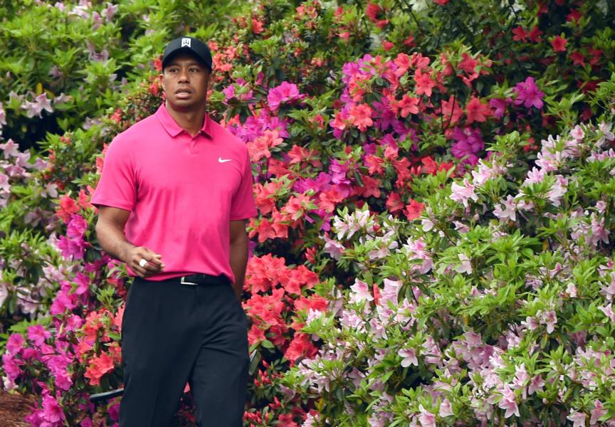 Masters photos A-Z Tiger Woods Azaleas